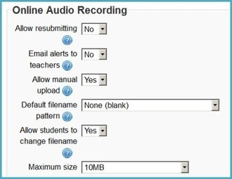 Online audio assignment in Moodle | Our Learning | Let's Learn IT: Moodle@School | Scoop.it