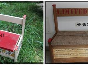 transformer un coffre en banc pour le jardin. Black Bedroom Furniture Sets. Home Design Ideas