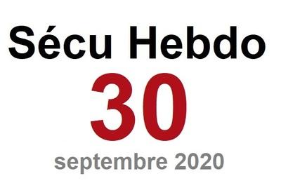 Sécu Hebdo 30 du 12 septembre 2020
