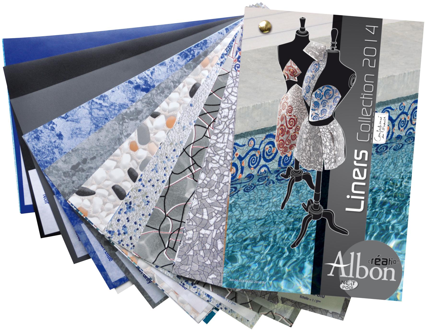 Nuanciers liners et frises albon des outils p for Frise pour piscine beton