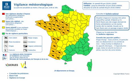 Vigilance Orange Pour Orage Sur Les Hautes Pyrnes