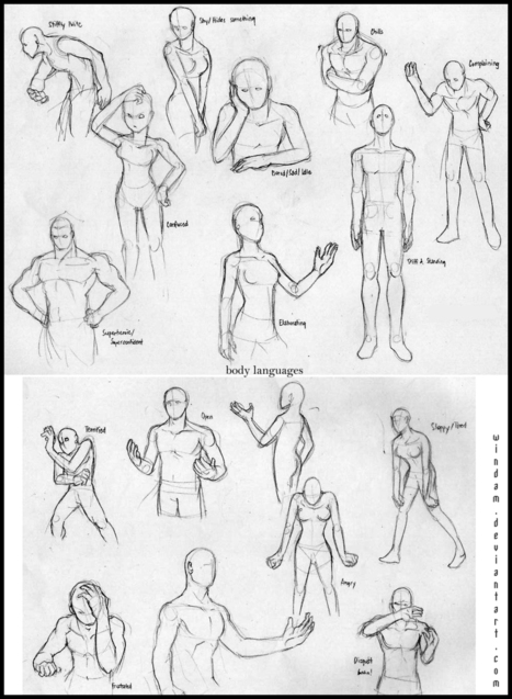 Drawing body gestures Quickposes: pose