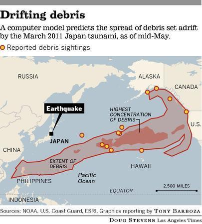 Scientists observe 'tragic experiment' of tsunami debris | World Regional Geography | Scoop.it