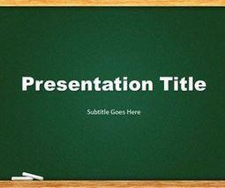 free green chalkboard powerpoint template