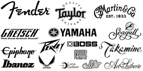 top 5 best acoustic guitar brands worldwide b rh scoop it famous guitar brand logos guitar companies logos