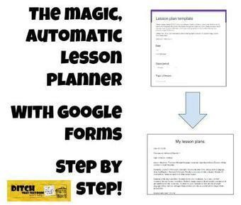 The Magic Automatic Lesson Planner with Google Forms | Cibereducação | Scoop.it