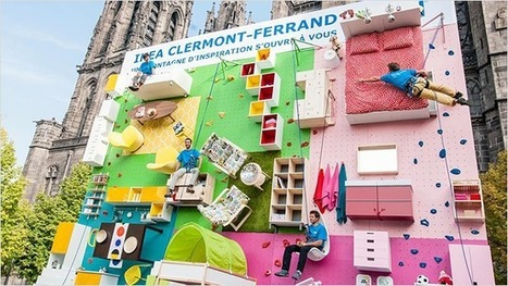 Incredible Ikea Billboard Tips an Apartment Sideways to Become a Rock-Climbing Wall | Emprendimientos Agiles | Scoop.it
