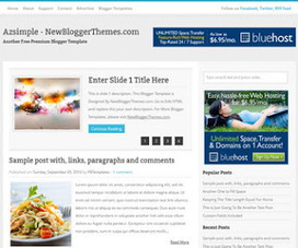 Azsimple - Blogger Templates | Blogger themes | Scoop.it