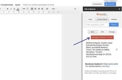 ¿Cómo crear una bibliografía en Google Docs?   Gustavo Martínez Blog´s   IKT-TIC   Scoop.it