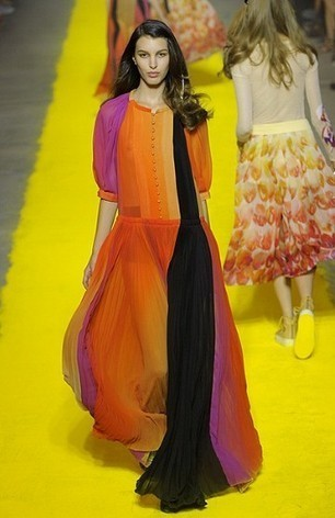 Tangerine Tango In Monochromatic Colour Scheme By Sonia Rykiel Spring Summer 2012 Collection