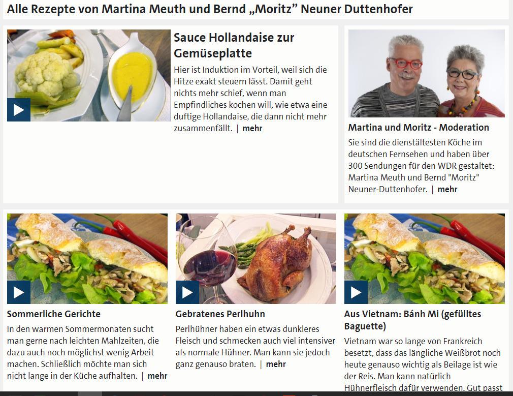 Übersicht der Rezepte von Martina Meuth un...