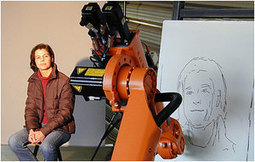 Industrial robot arm learns new hobby: human portraiture | Adventures in Cognition | Scoop.it