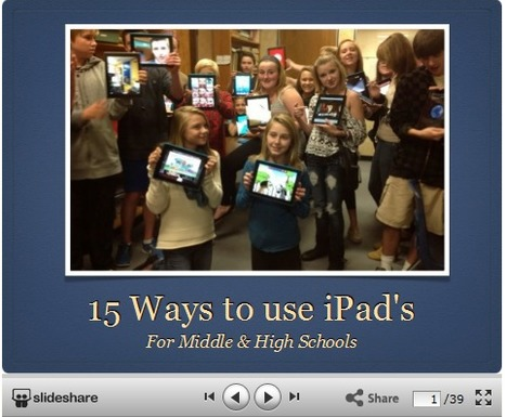 Using Technology in the Classroom: 15 Ways to Use an iPad in Middle & High Schools | iPads, MakerEd and More  in Education | Scoop.it