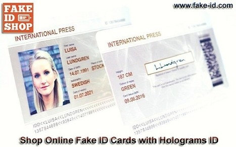Purchase Affordable Fake Press ID Cards with Holograms ID | Online Shop for Fake ID Cards | Scoop.it