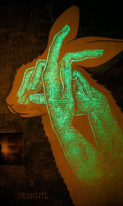 Fun Murals by Reskate Contain Hidden Glow-In-The-Dark Surprises... | Art for art's sake... | Scoop.it