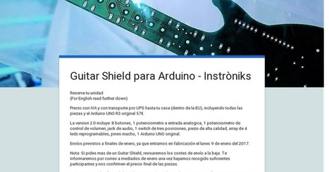 Guitar Shield para Arduino - Instròniks | Raspberry Pi | Scoop.it