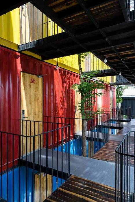 Eclectic seaside hostel is built out of recycled shipping containers | Texas Coast Real Estate | Scoop.it