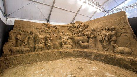 334135b5e Sochári vymodelujú betlehem z piesku priamo na Vatikánskom námestí