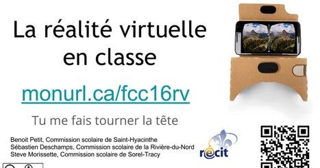 On se lance : La réalité virtuelle en classe - Tu me fais tourner la tête #VR | Ecriture mmim | Scoop.it