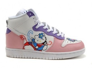 Hello Kitty Butterfly Nike Dunk SB High Tops  hello-kitty-shoes-1007 c0042f197fcd