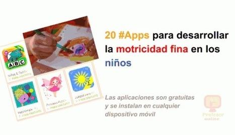 20 aplicaciones para desarrollar la #MotricidadFina en los #niños   Profesoronline   Scoop.it
