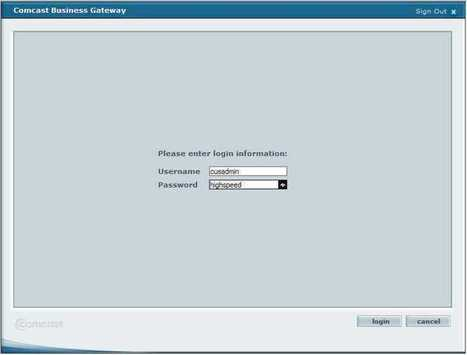 10 1 10 1 Admin Login To Comcast Business Route