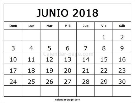 calendario junio 2018 calendario mensual 2018 para imprimir