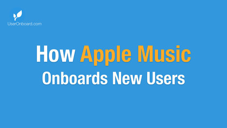 How Apple Music Onboards New Users | User Onboarding | UX-UI design | Scoop.it