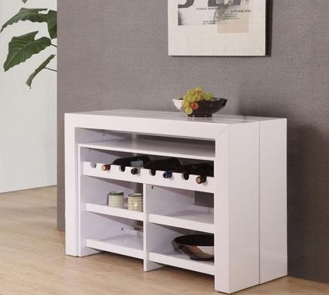 Consola extensible y convertible en mesa para 8 - Consolas muebles ikea ...