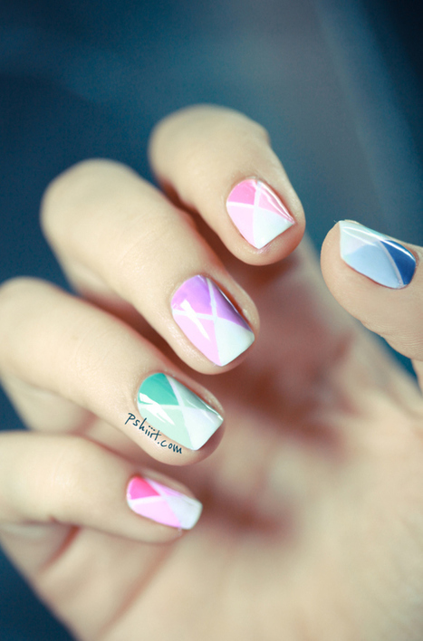 (Tuto Nail art facile) Nail art aux couleurs de printemps | Nails and manicure | Scoop.it