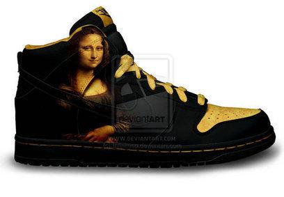 25e16ae19c3e Nike SB Dunk Mona Lisa Shoes High Top Design  nike-dunk-28  -  80.00   Cool  Jordan High Tops Sneakers