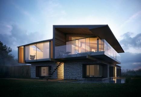 maison bois et pierre silver house by hyde hyde architects gower peninsula pays de galles