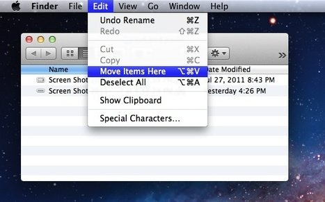 Cut and Paste Files & Folders in Mac OS X Lion | osx lion | Scoop.it