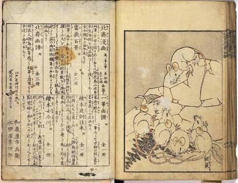 Historia del manga III: Katsushika Hokusai, el padre del Manga | Buque ARTdora | Scoop.it