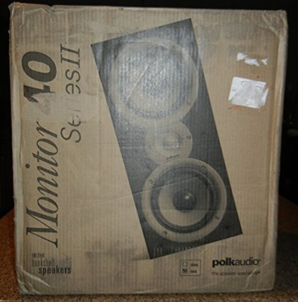 Polk Audio AM4095 A Monitor40 Series II Two Way Bookshelf Loudspeaker Black Pair