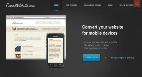 5 Services to Convert Websites For Mobile Devices | Aplicaciones y Herramientas . Software de Diseño | Scoop.it