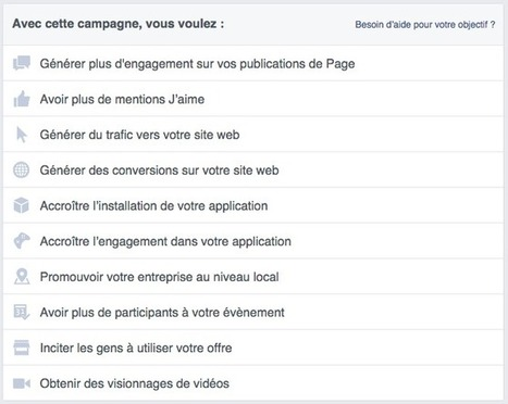Facebook Ads : quelles offres / formats pour quels objectifs ? | Web Analytics and Web Copy | Scoop.it