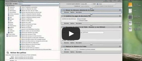 Débuter sur Mac : AUTOMATOR et les actions PDF   Machines Pensantes   Scoop.it
