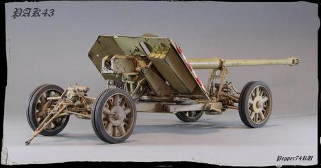 PAK 43- German 88-mm anti-tank gun of World War II | Military Miniatures H.Q. | Scoop.it