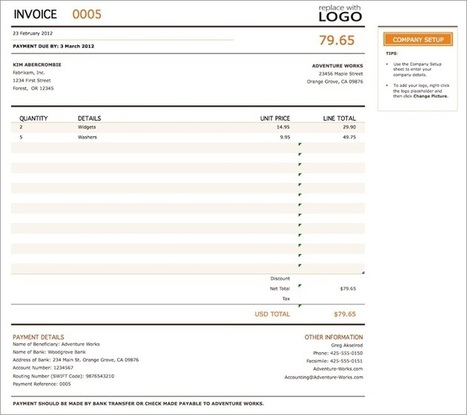 Self Employed Invoice Template Uk In Accountant Scoop It