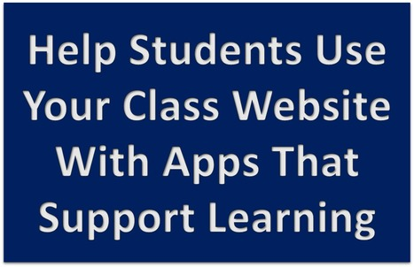 Class Websites: Apps To Support Your Students | MyWeb4Ed | MyWeb4Ed | Scoop.it