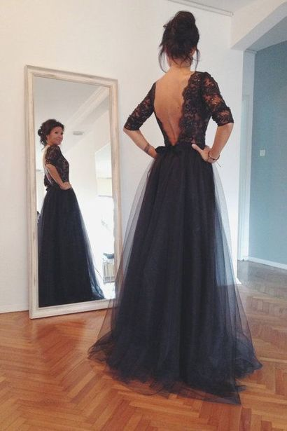 d321fd187aa5e Lace Tulle Long Prom Dresses #prom #promdress #...