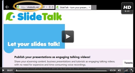 SlideTalk Tutorial: How to turn a powerpoint presentation into a talking video | Digital Presentations in Education | Scoop.it