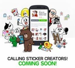 Line permet aux designers indépendants de proposer leurs propres stickers | Social Media Curation par Mon Habitat Web | Scoop.it