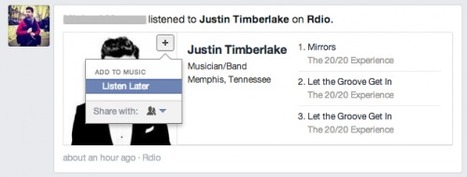 Facebook adds 'listen later' button to music stories in the feed | Social Kat Nips | Scoop.it