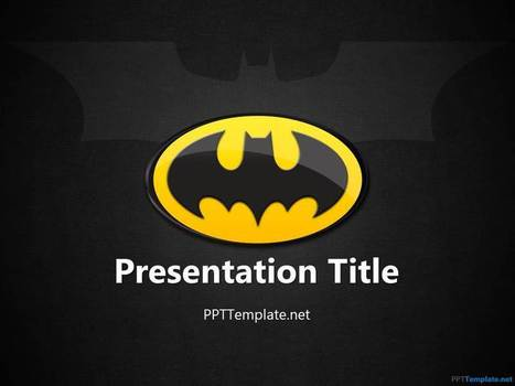 Free Batman Ppt Template Ppt Presentation Bac