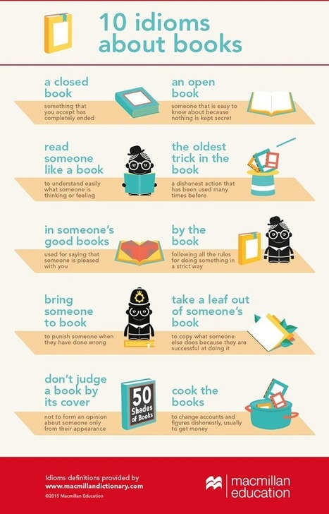10 idioms about books infographic | English Learning Resources | Scoop.it