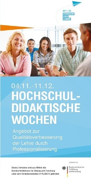 Online-Anmeldung für die Hochschuldidaktischen Wochen ab sofort möglich! | e-learning in higher education and beyond | Scoop.it