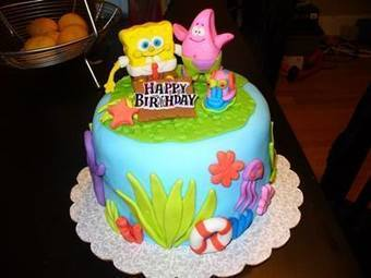 Terrific Spongebob Birthday Cake Ideas Nice Birthday C Funny Birthday Cards Online Alyptdamsfinfo