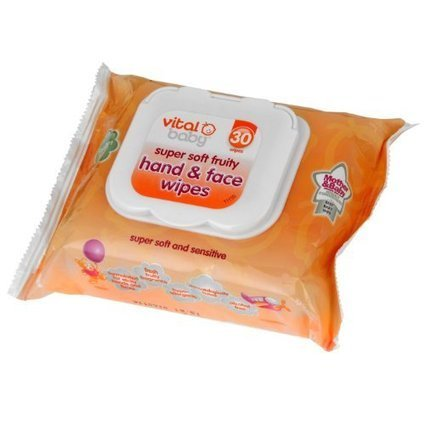 Vital Baby Super Soft Fruity Hand and Face Wipes Pack of 30